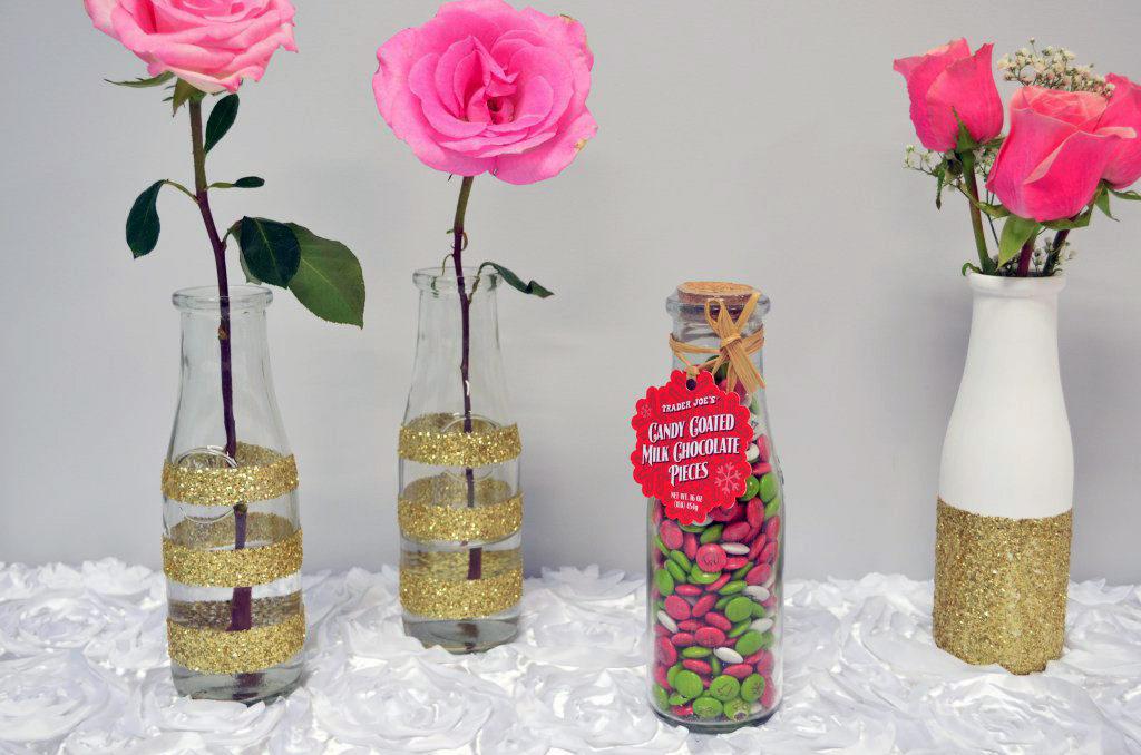 DIY Gold Glittered Vas