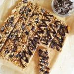 Candied Orange Roasted Coconut and Dark Chocolate Granola Bars