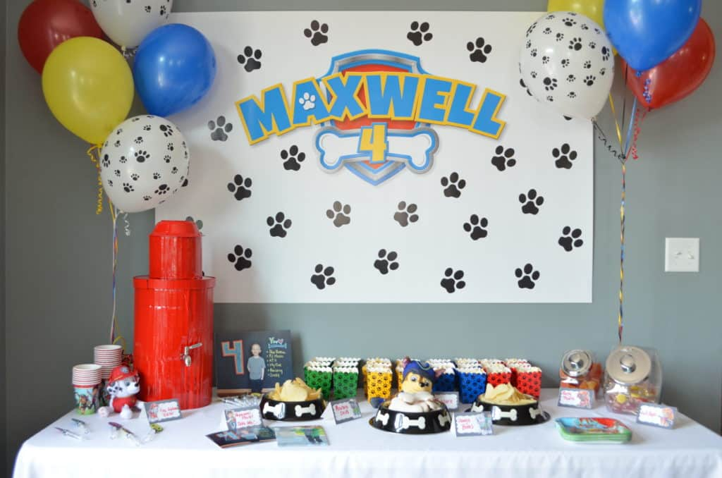 PAW PATROL TABLE FOR PARTY