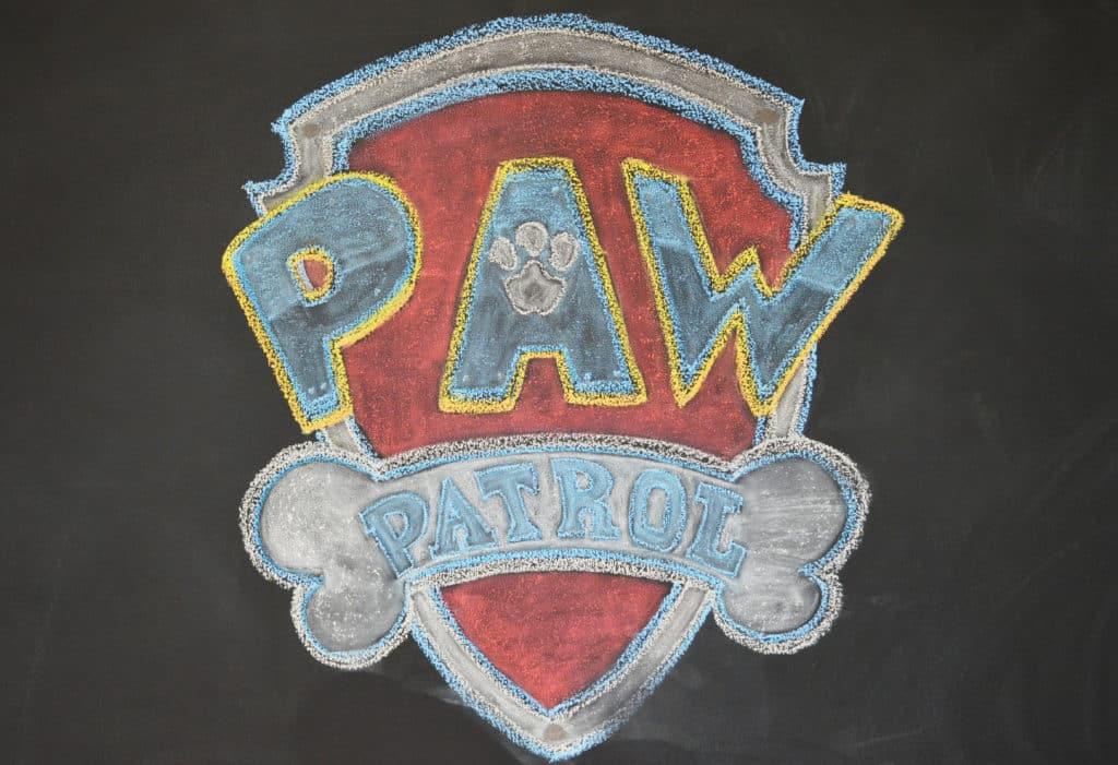 chalkboard PAW BADGE