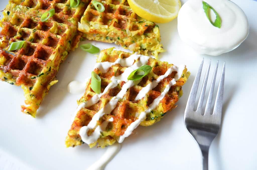 The Best Waffled Zucchini
