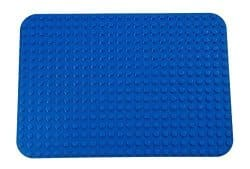 """Premium Blue Base Plate - 15"""" x 10.5"""" Baseplate (LEGO® DUPLO® Compatible) - Large Pegs Only"""