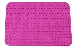 """Premium Pink Base Plate - 15"""" x 10.5"""" Baseplate (LEGO® DUPLO® Compatible) - Large Pegs Only"""