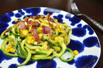 Zoodles With Bacon and Cilantro Lime Sauce