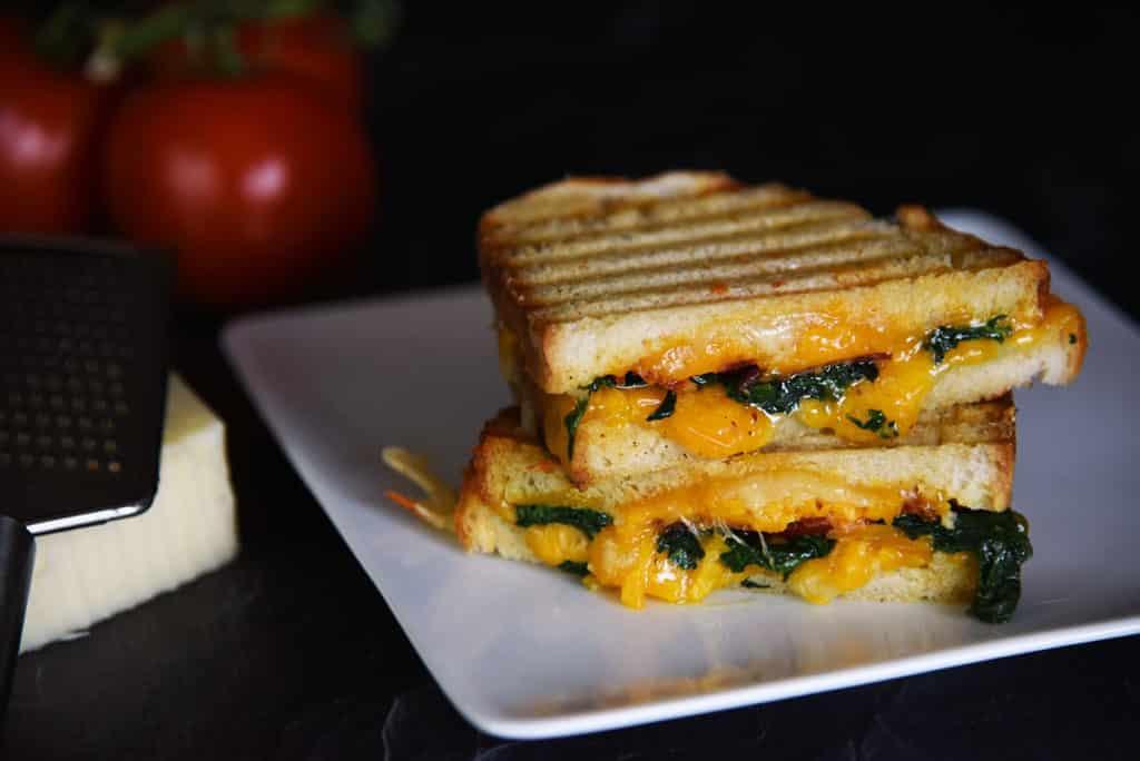 Cheesy Bacon Spinach Panini