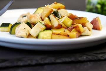Potato Zucchini Chicken Skillet